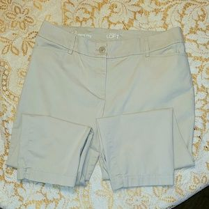Khaki Curvy Crop Capri pants AnnTaylor Sz 12